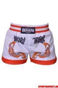 Pantaloni scurți BERSERK MUAY THAI FIGHTER white