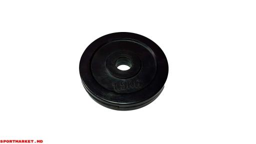 Disc negru cauciucat (Ø26) (1 bucată)