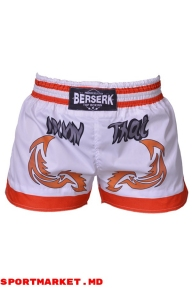 Pantaloni scurți BERSERK MUAY THAI FIGHTER white